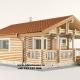 Casa de vacanța 4 din lemn rotund calibrat 160 mm diametru este dispusă pe parter cu o suprafața de 41,25mp compusă din terasa camera de zi sauna și baie. Proiectul poate suferii orice modificare in funcție de