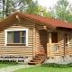 Casuta de grădina 2 sau sauna din lemn rotund calibrat 160 mm diametru dispusă pe parter având in componenta camera de zi , baie, hol , terasa și sauna !