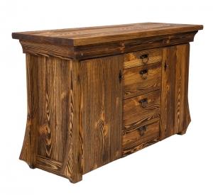 Mobilier antichizat - comoda tv din lemn antichizat