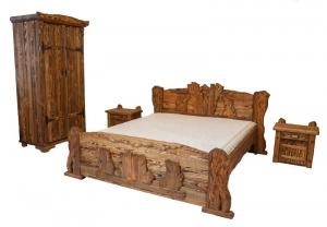 Mobilier antichizat - dormitor din lemn antichizat
