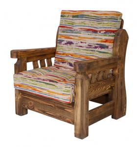 Mobilier antichizat - fotoliu din lemn antichizat