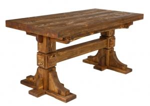 Mobilier antichizat - masa pentru restaurant din lemn antichizat