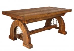 Mobilier antichizat - masa din lemn antichizat pentru terasa