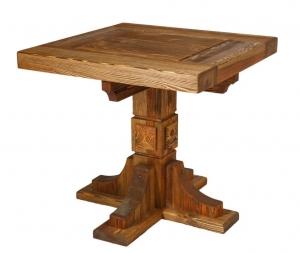 Mobilier antichizat - masa patrata din lemn antichizat