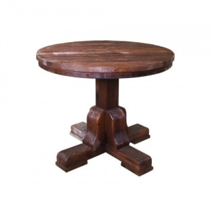 Mobilier antichizat - masa rotunda din lemn antichizat