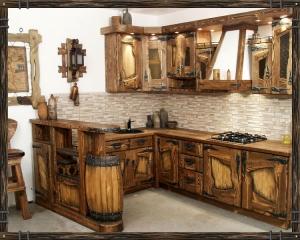 Mobilier antichizat - mobilier pentru bucatarie din lemn antichizat