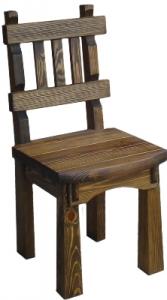 Mobilier antichizat - scaun cu spatar din lemn atichizat