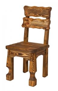 Mobilier antichizat - scaun cu spatar pentru bar din lemn antichizat