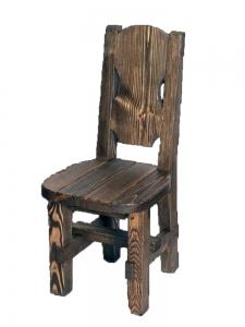 Mobilier antichizat - scaun din lemn de nuc antichizat