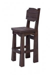 Mobilier antichizat - scaun pentru bar din lemn antichizat