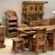Mobilier antichizat - set mobilier din lemn antichizat