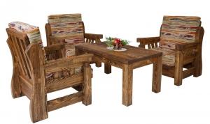 Mobilier antichizat - set pentru living din lemn antichizat