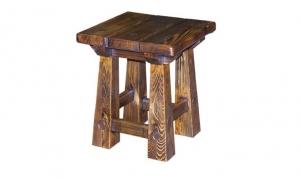 Mobilier antichizat - taburet din lemn antichizat
